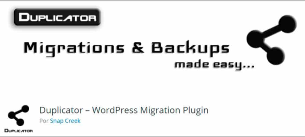 Plugins de WordPress - Duplicator