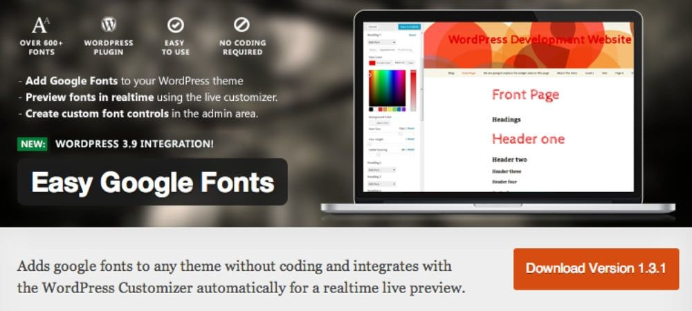 Plugins de WordPress - Easy-Google-Fonts