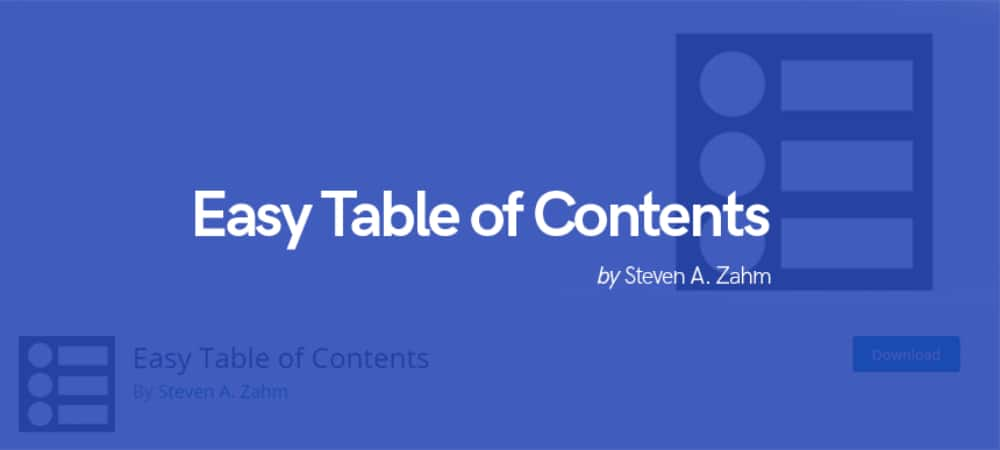 Plugins de WordPress - Easy-Table-of-Contents