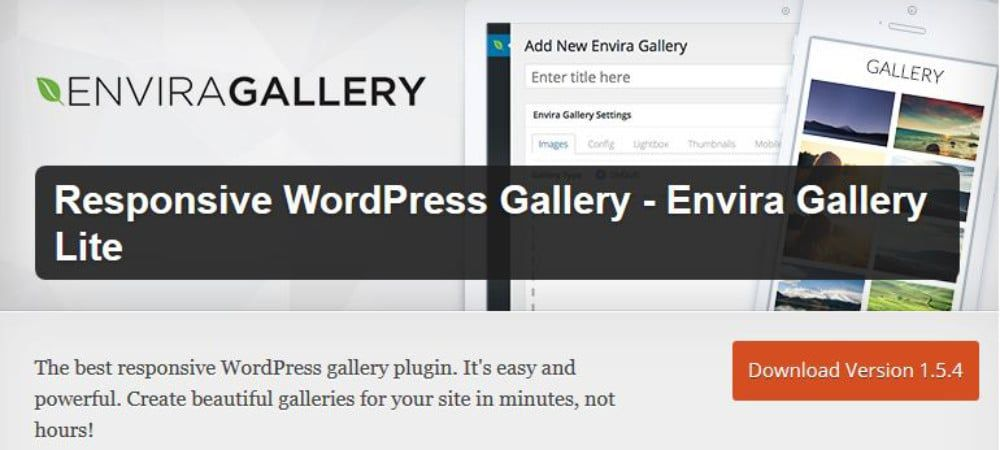 Plugins de WordPress - Envira-Gallery