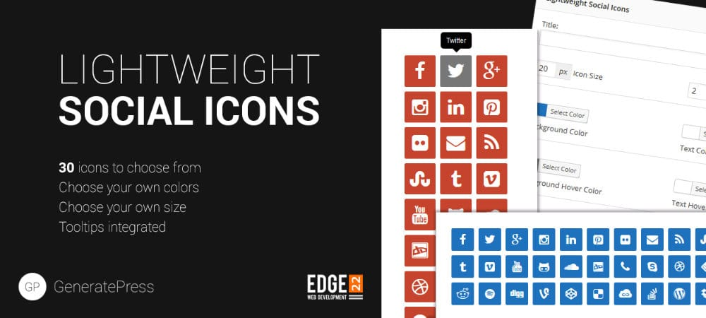 Plugins de WordPress - Lightweight-Social-Icons