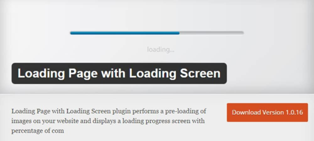 Plugins de WordPress - Loading-Page