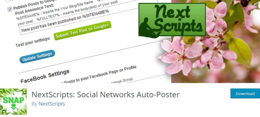Plugins de WordPress - NextScripts-Social-Network-Auto-Poster