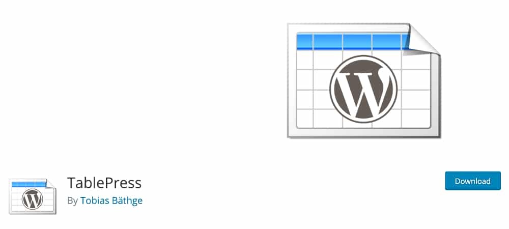 Plugins de WordPress - TablePress