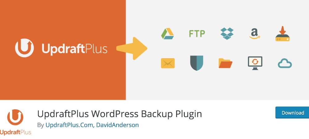 Plugins de WordPress - UpdraftPlus