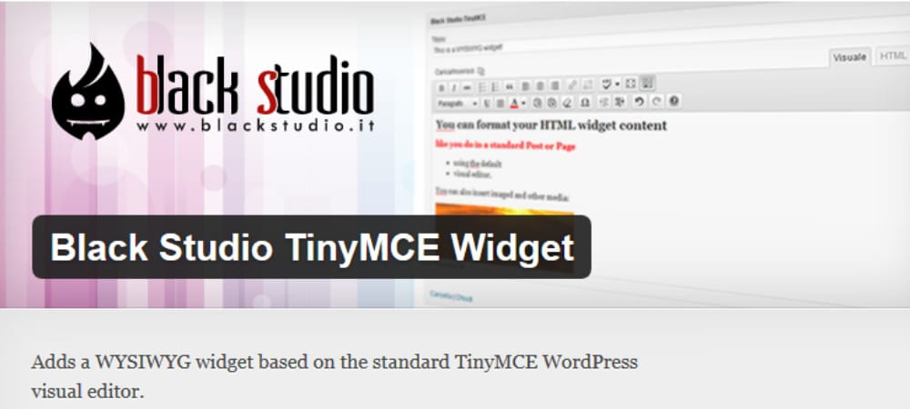 Plugins de WordPress - black_studio_tinymce_widget
