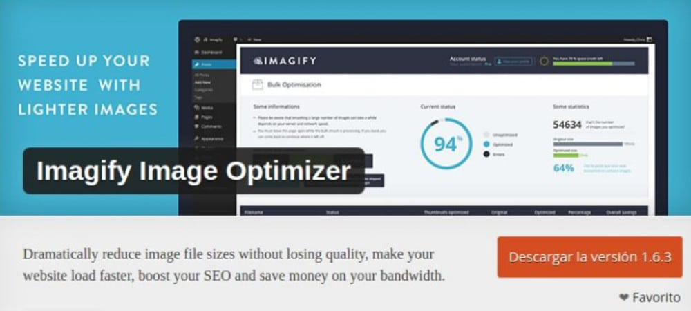 Plugins de WordPress - imagify_image_optimizer