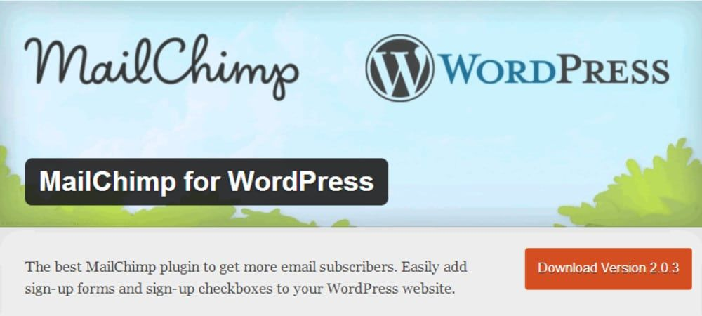 Plugins de WordPress - mailchimp-for-wordpress